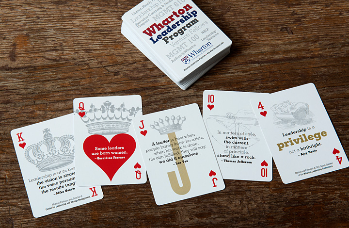 Wharton Leadership Deck of Playing Cards - 4