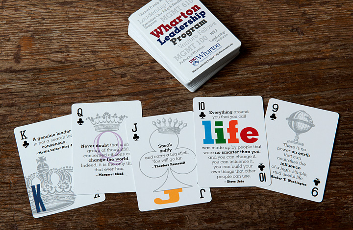 Wharton Leadership Deck of Playing Cards - 3